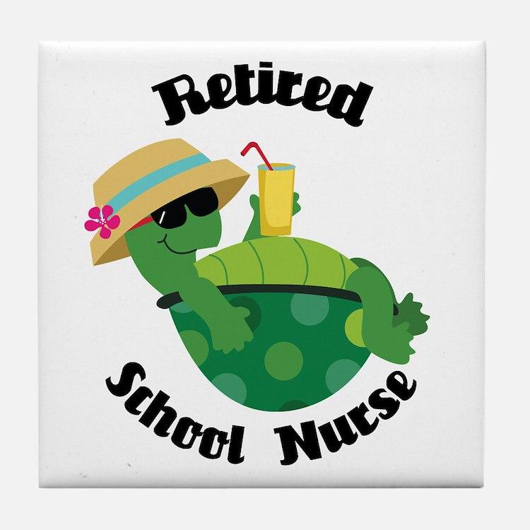 Retired School Nurse Tile Coaster
