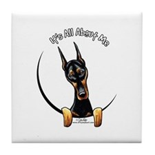 Doberman IAAM Tile Coaster