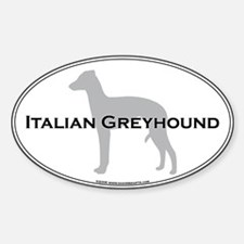 Italian Greyhound Oval Decal