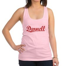Darnell, Vintage Red Racerback Tank Top