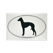 Italian Greyhound Silhouette Rectangle Magnet