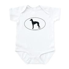 Italian Greyhound Silhouette Infant Creeper