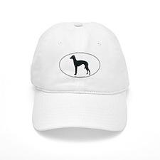Italian Greyhound Silhouette Baseball Cap