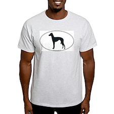 Italian Greyhound Silhouette Ash Grey T-Shirt