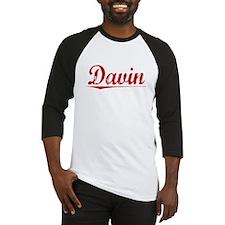 Davin, Vintage Red Baseball Jersey