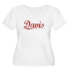 Davis, Vintage Red T-Shirt