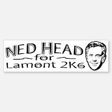 2006 Ned Head B&W Bumper Bumper Bumper Sticker