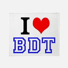 i<3BDT Throw Blanket