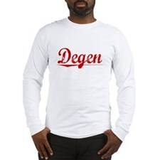 Degen, Vintage Red Long Sleeve T-Shirt