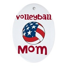 Volleyball Mom Ornament (Oval)