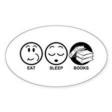 Eat Sleep Books Decal