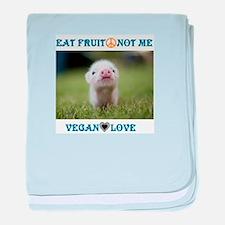 Vegan Love baby blanket
