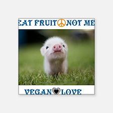 "Vegan Love Square Sticker 3"" x 3"""