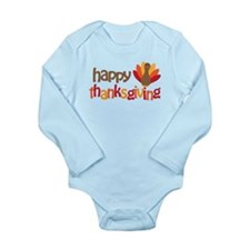 Happy Thanksgiving Long Sleeve Infant Bodysuit