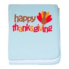 Happy Thanksgiving baby blanket