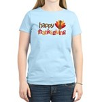 Happy Thanksgiving Women's Light T-Shirt
