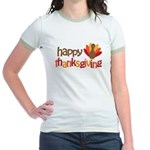 Happy Thanksgiving Jr. Ringer T-Shirt