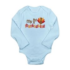 My 1st Thanksgiving Long Sleeve Infant Bodysuit