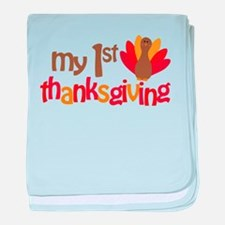 My 1st Thanksgiving baby blanket