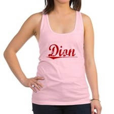 Dion, Vintage Red Racerback Tank Top