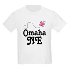 Omaha Nebraska Butterfly T-Shirt