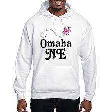 Omaha Nebraska Butterfly Hoodie