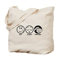 Eat Sleep History Tote Bag