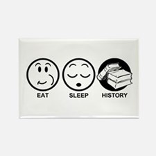 Eat Sleep History Rectangle Magnet