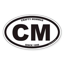 CRAFTY MOMMAS CM Euro Oval Decal