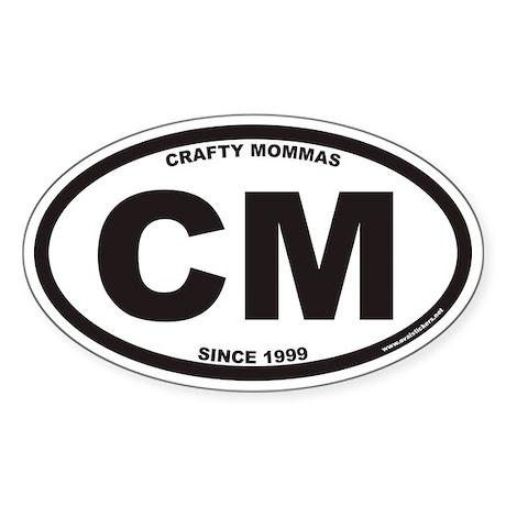 CRAFTY MOMMAS CM Euro Oval Sticker