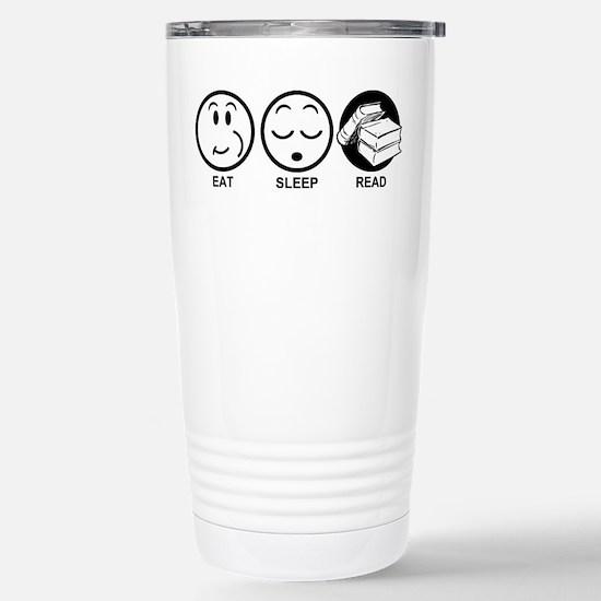 Eat Sleep Read Stainless Steel Travel Mug