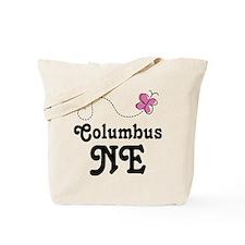 Columbus Nebraska Butterfly Tote Bag