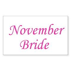 November Bride Rectangle Decal