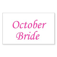 October Bride Rectangle Decal