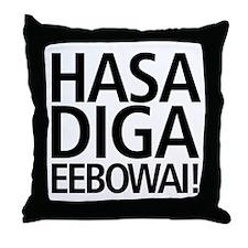 Hasa Diga Eebowai Throw Pillow