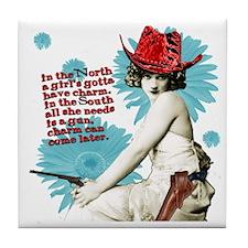 Divas D'Este Wild West Charm Tile Coaster