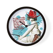 Divas D'Este Wild West Charm Wall Clock