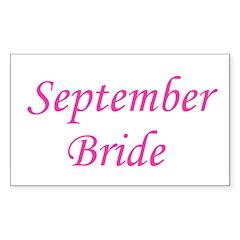 September Bride Rectangle Decal