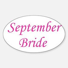 September Bride Oval Decal