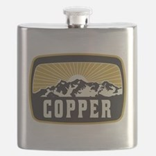 Copper Sunshine Patch Flask