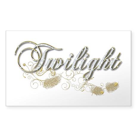 Twilight Sparkly Sticker (Rectangle)