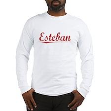 Esteban, Vintage Red Long Sleeve T-Shirt