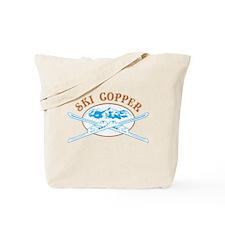 Copper Crossed-Skis Badge Tote Bag