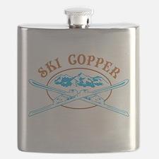 Copper Crossed-Skis Badge Flask