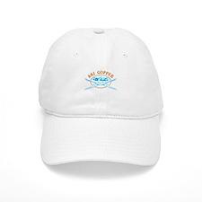 Copper Crossed-Skis Badge Baseball Cap