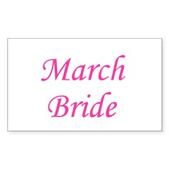 March Bride Rectangle Decal