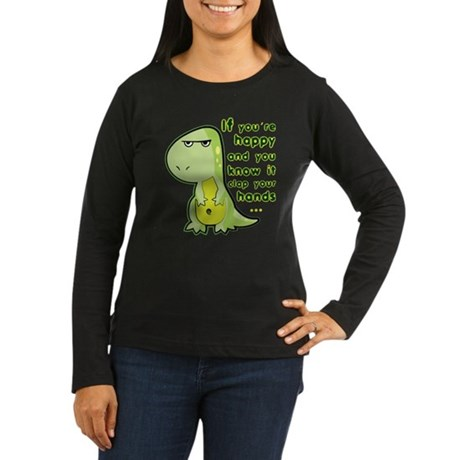 T-rex hands Women's Long Sleeve Dark T-Shirt