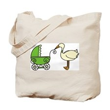Stork With Stroller Tote Bag