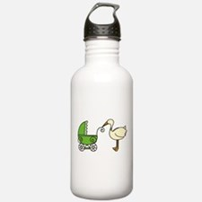Stork With Stroller Water Bottle