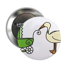 "Stork With Stroller 2.25"" Button"